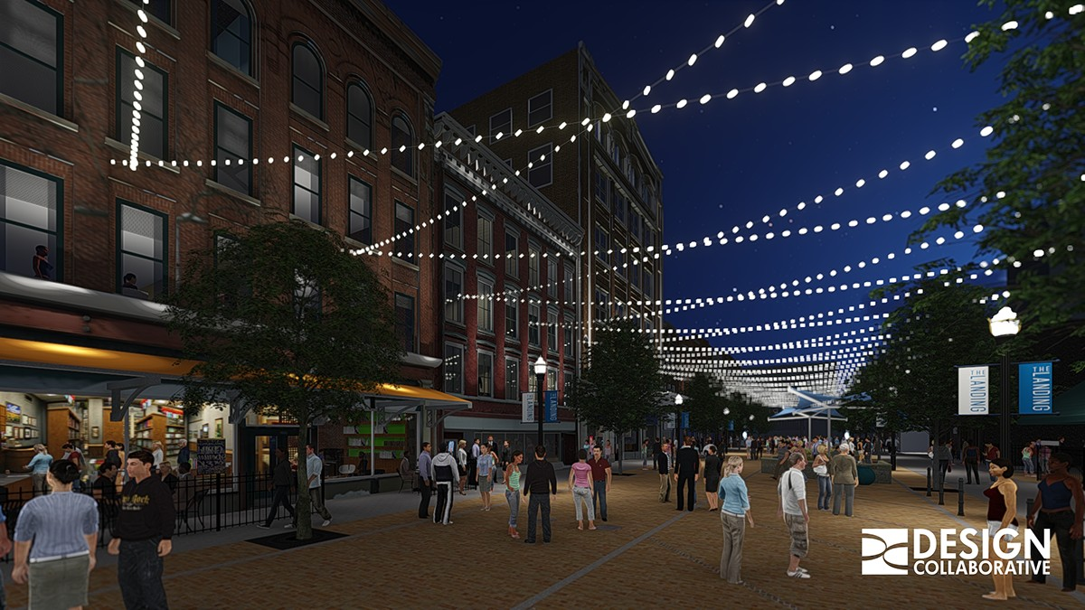 Greater Fort Wayne Inc.'s 10 year plan for the city includes developing The Landing, a $30 million project that would be complete by 2018. (Rendering provided by GFWI)