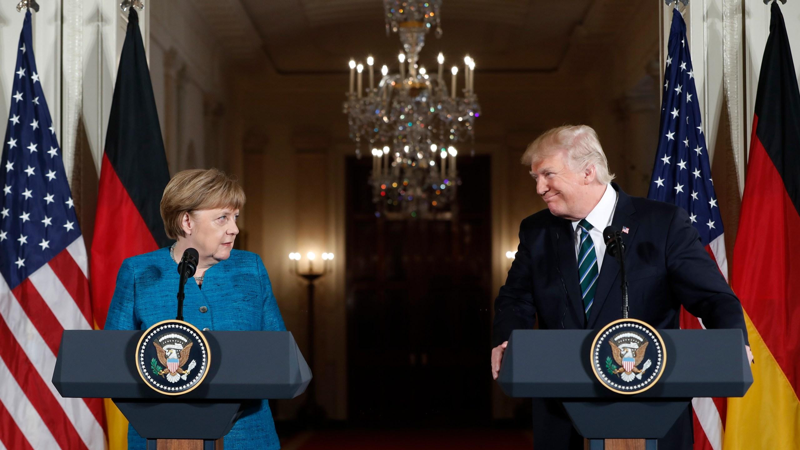 Donald Trump Angela Merkel_248528