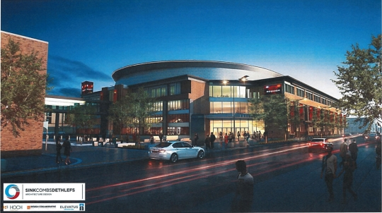 New renderings of the planned event center in downtown Fort Wayne were released Thursday, Feb. 16, 2017. (Elevatus Architecture)