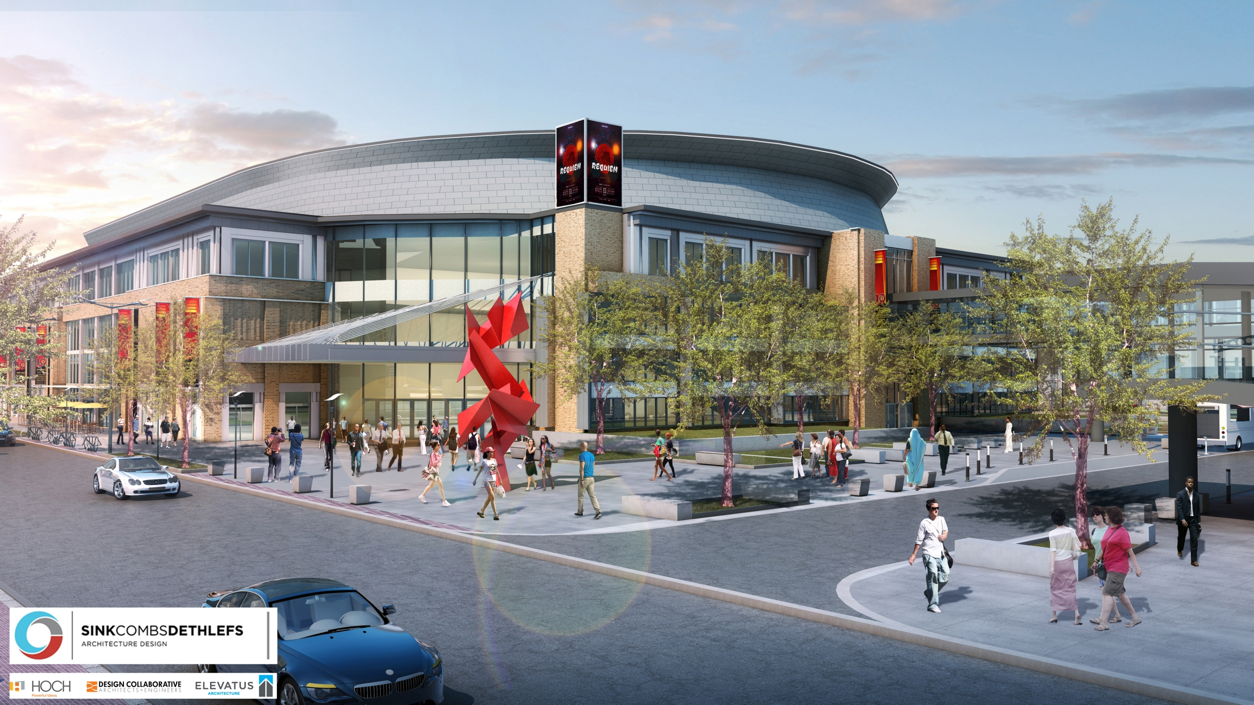 downtown Fort Wayne arena event center rendering_241425