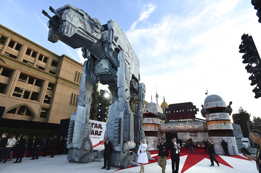 APTOPIX LA Premiere of _Star Wars_ The Last Jedi__300757