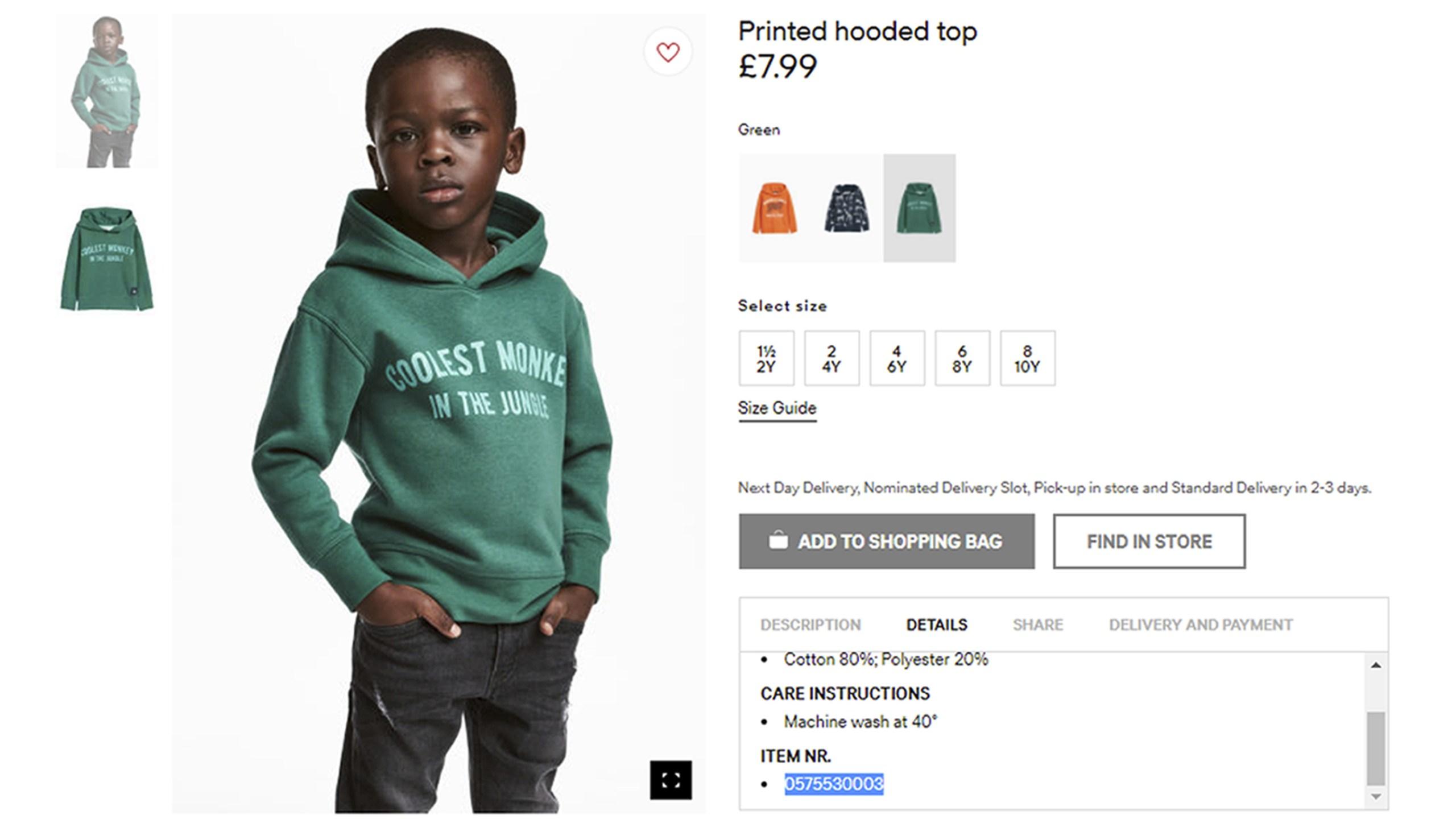 H&M monkey sweatshirt ad_306092