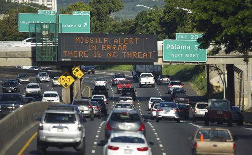 CORRECTION Hawaii Mistaken Missile Alert_307632