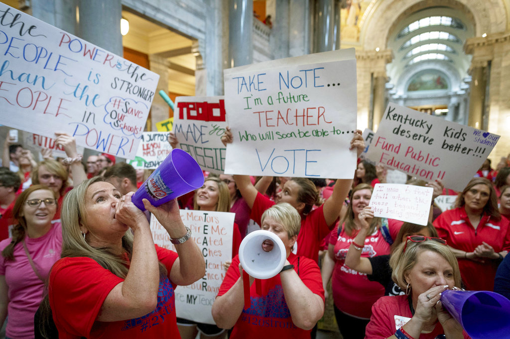 APTOPIX Teacher Protests Kentucky_1523705282882