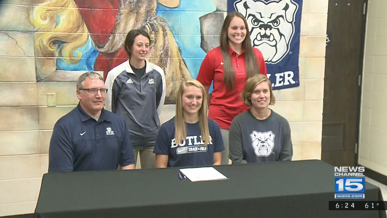 Huntington North's Karmen Koch signs with Butler track