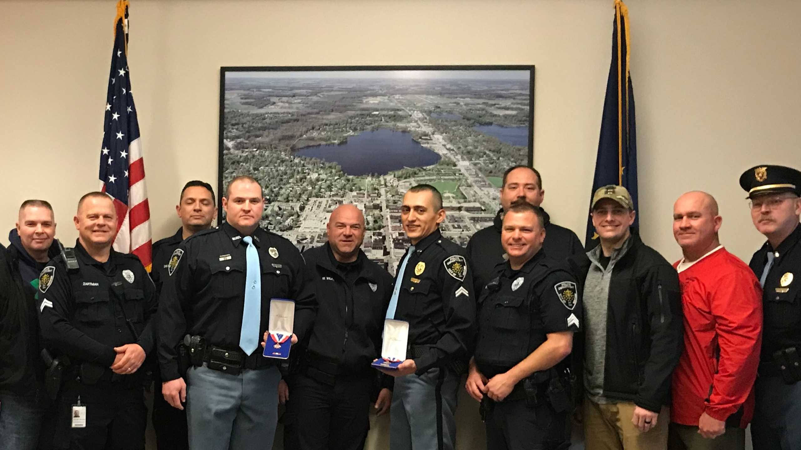 warsaw officers honored