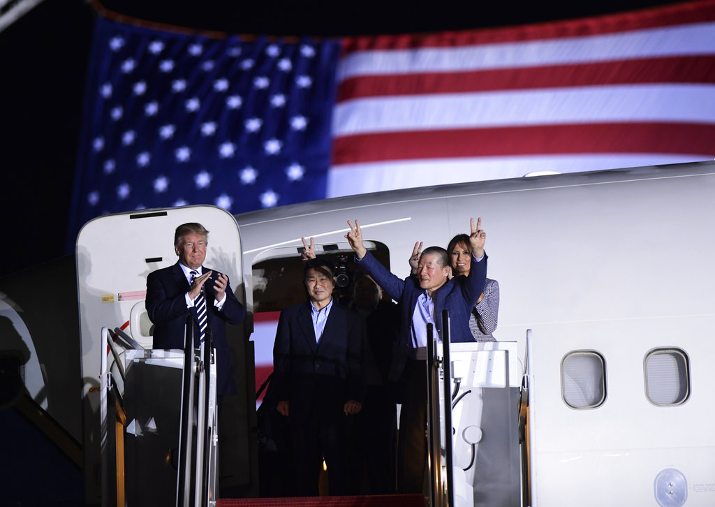 Americans freed from North Korea