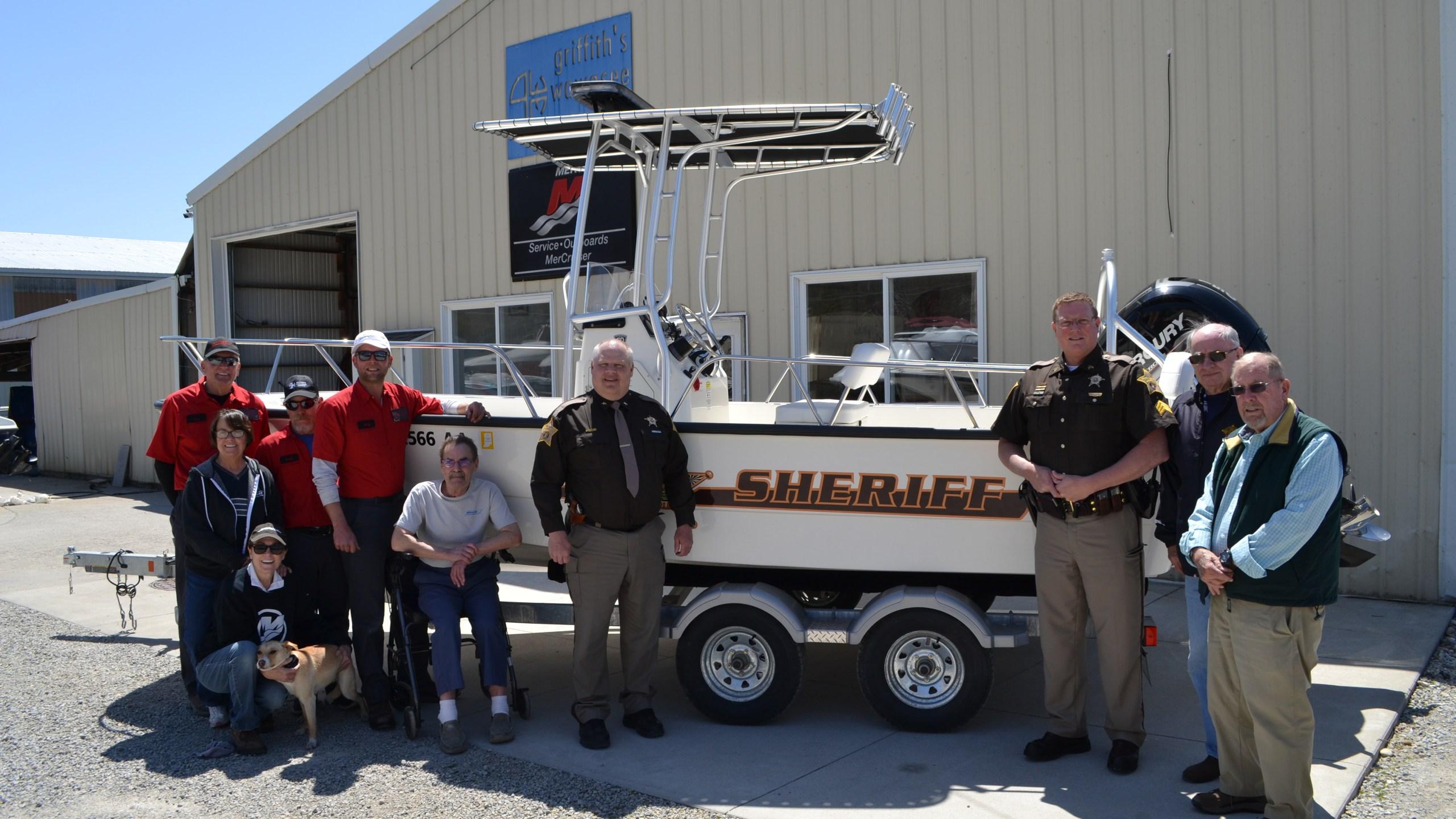Kosciusko Co. Sheriff's Department patrol boat