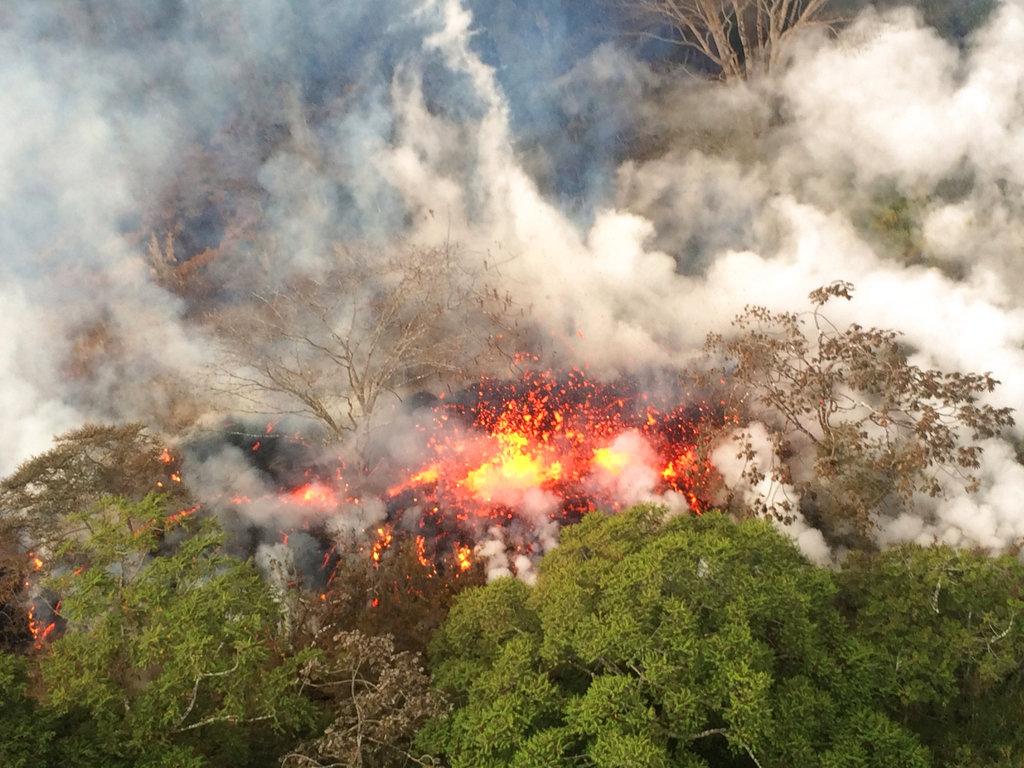 Hawaii Volcano ash