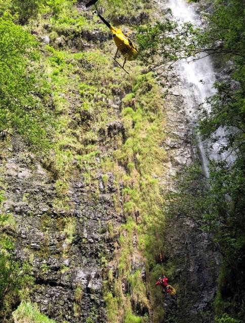 waterfall death hawaii