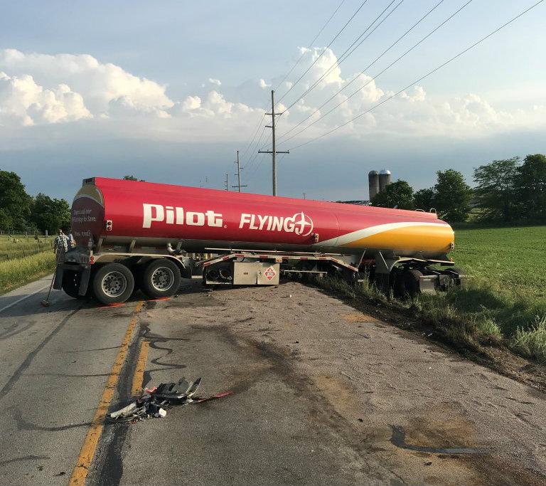 Kosciusko County tanker crash