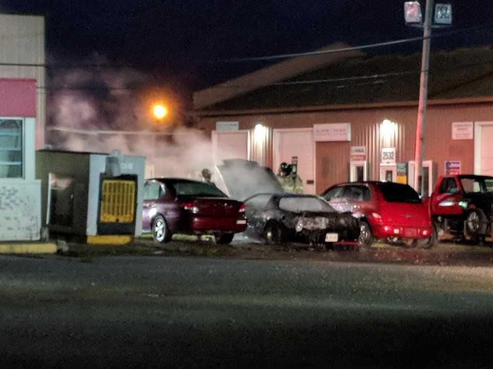 goshen road car fire