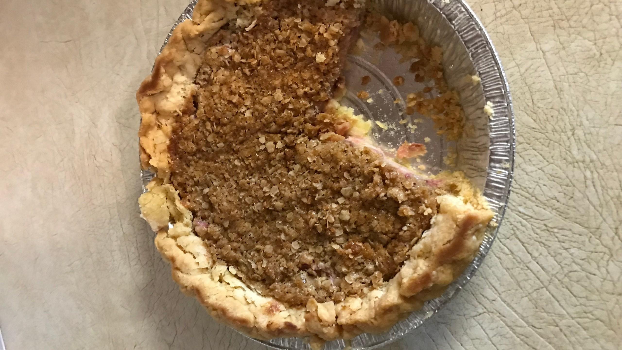 Allen County Fair champion rhubarb pie