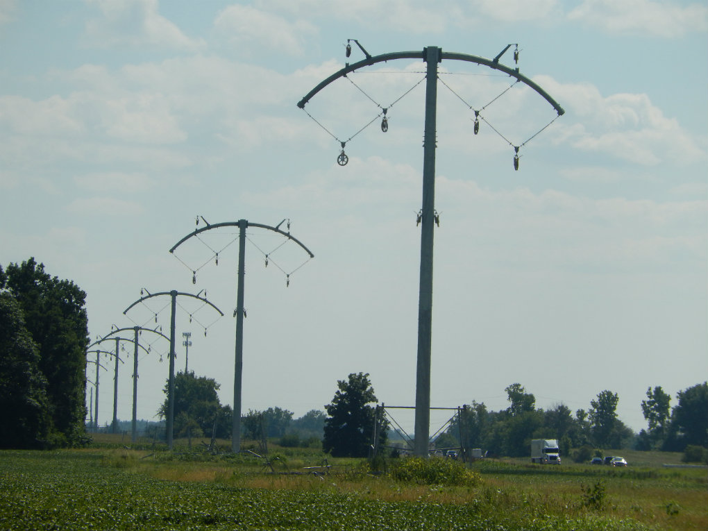 Indiana Michigan Power Bold Transmission towers