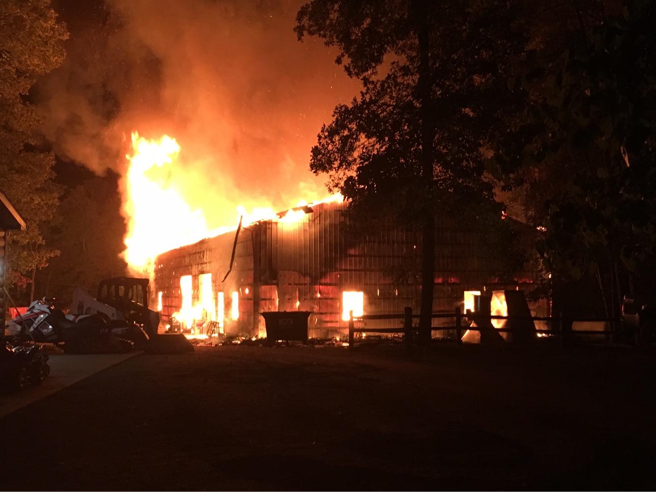Ashley Barn Fire