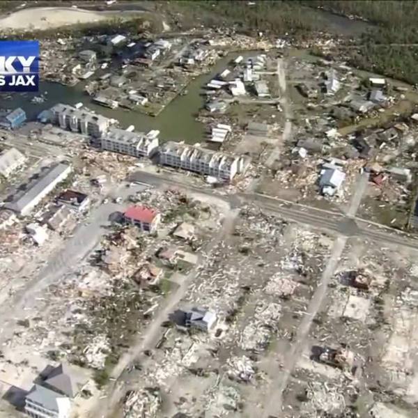 Devastation in Mexico Beach, Florida after Hurricane
