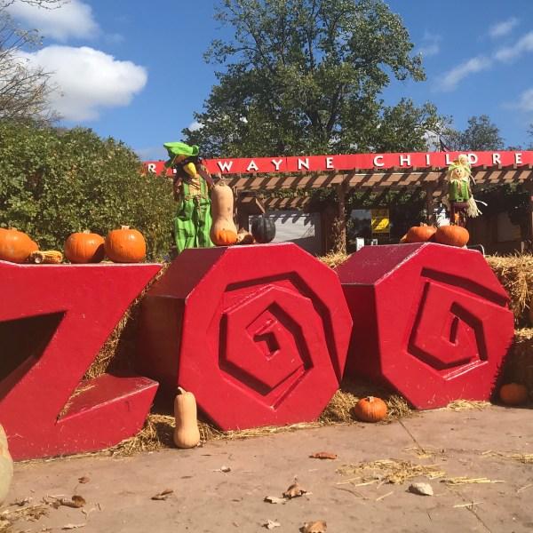 Wild Zoo Halloween sign