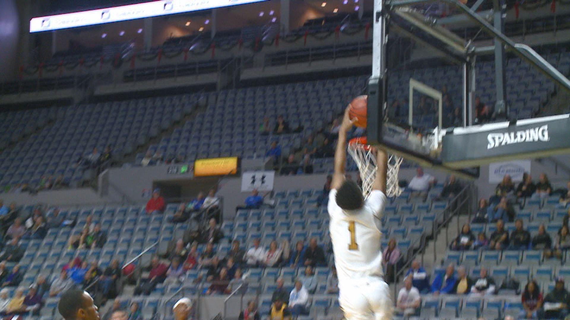 purdue fort wayne mastodons mens basketball jarred godfrey dunk