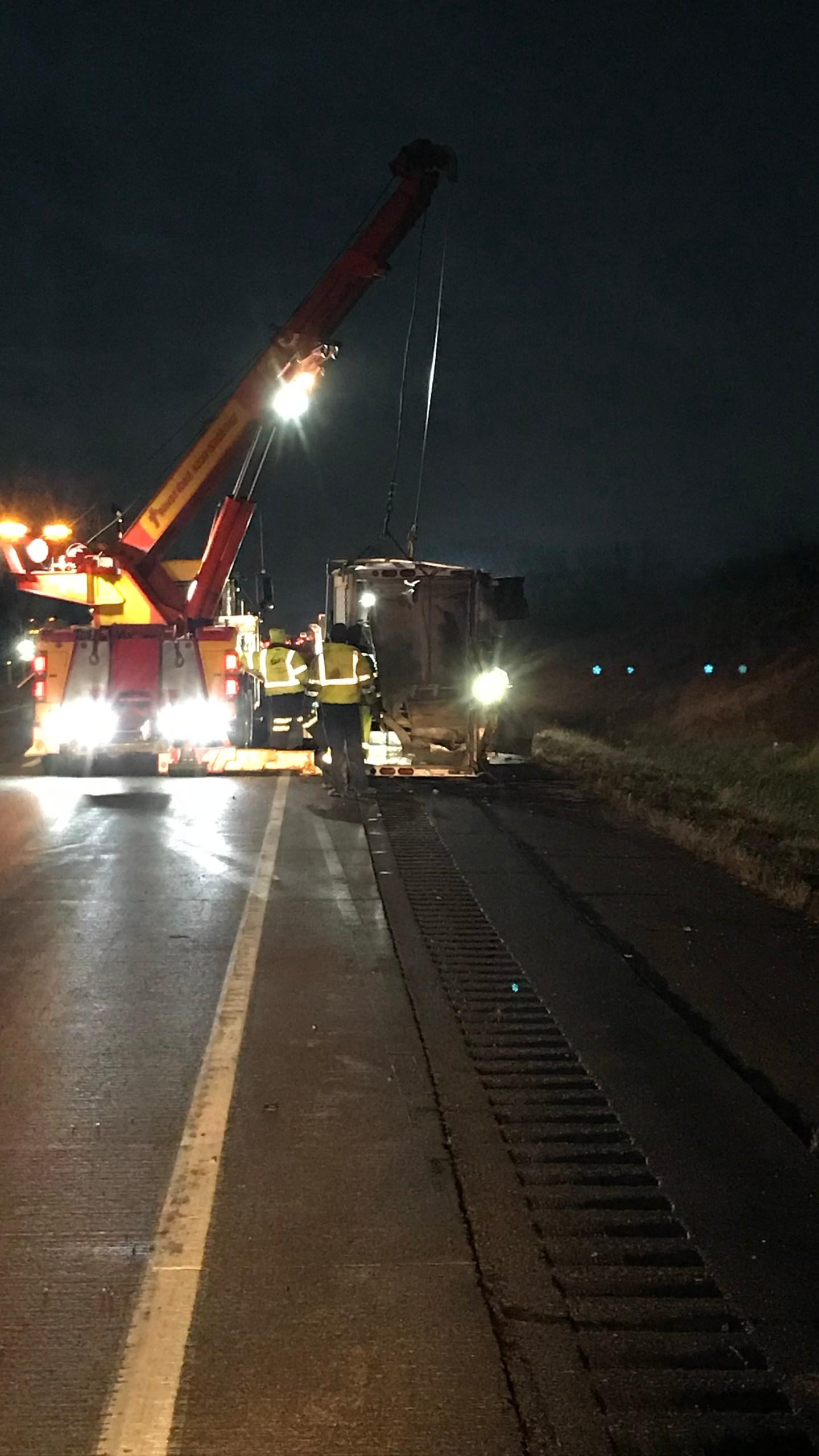DeKalb County dump truck Interstate 69