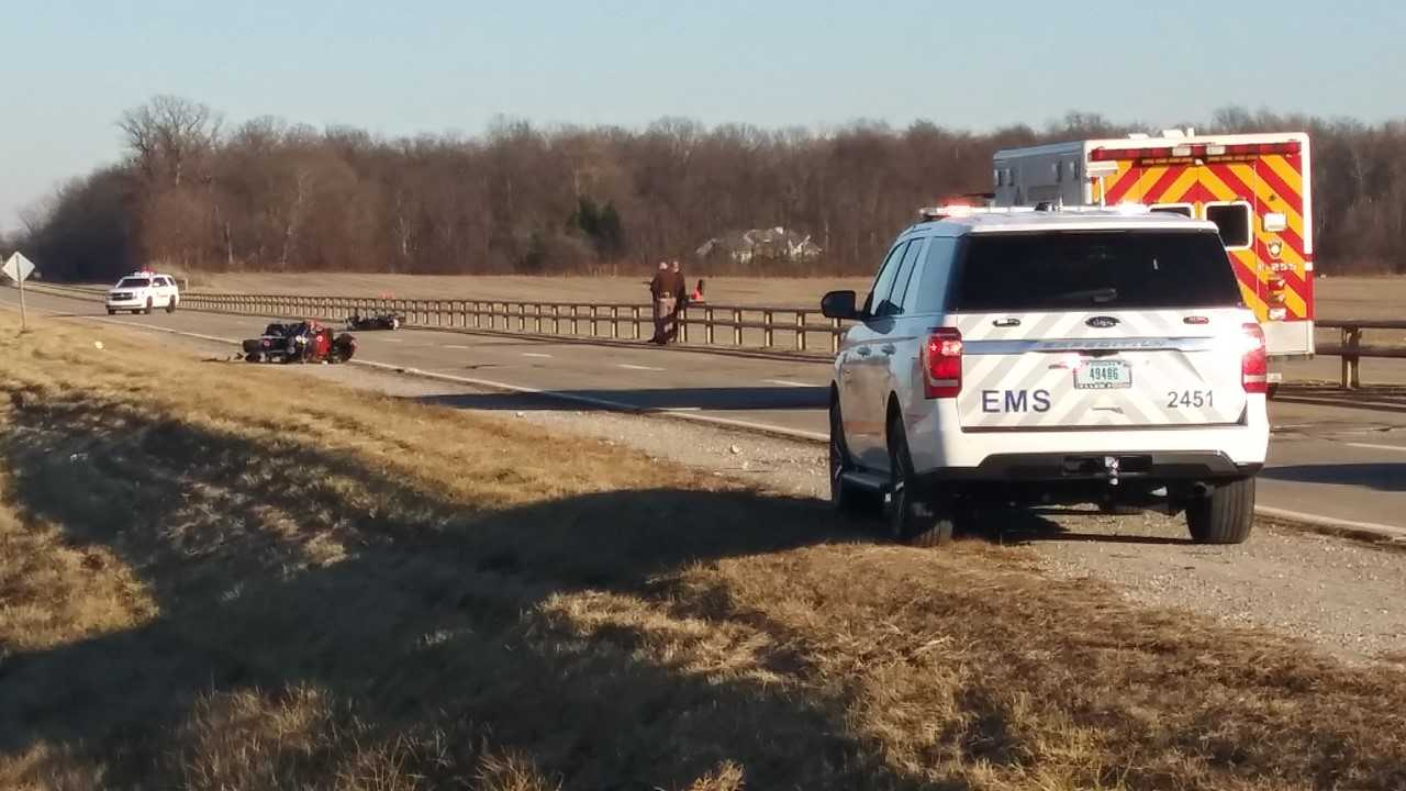 Three critical after motorcycle crash