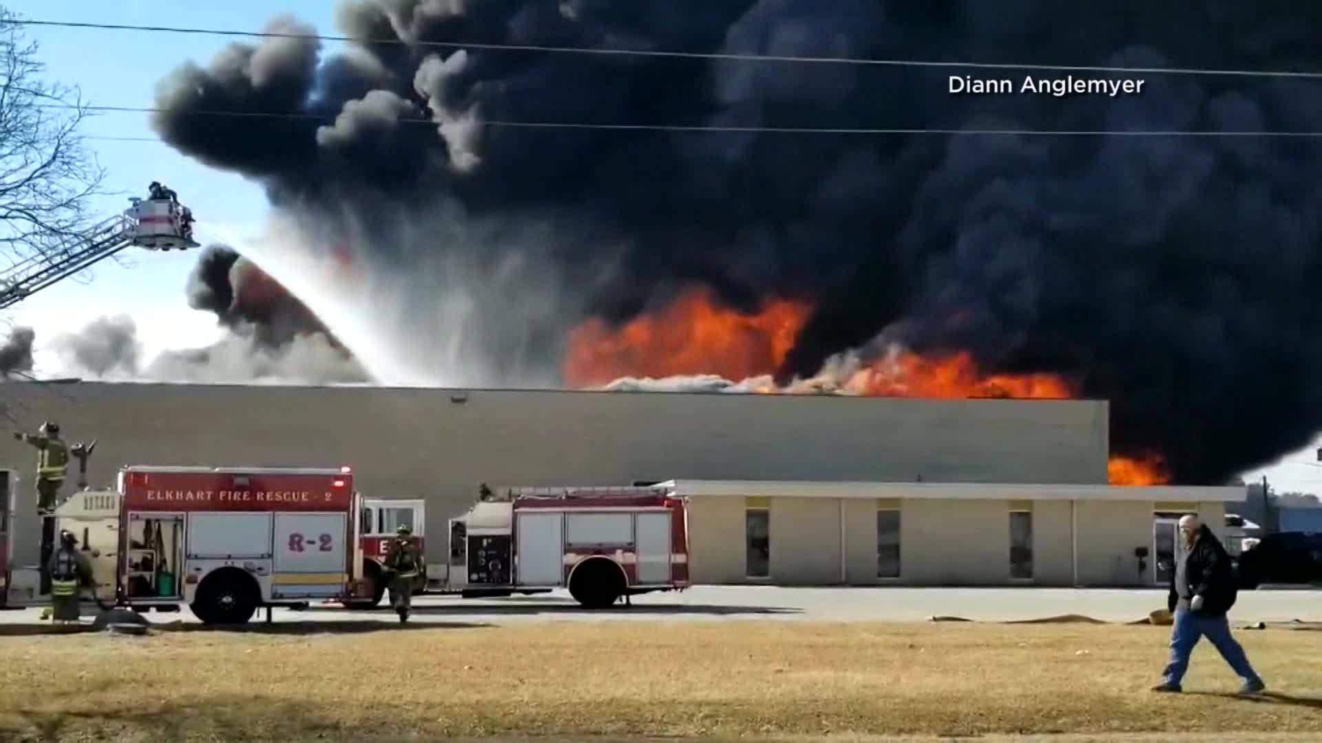 Elkhart RV Plant Fire