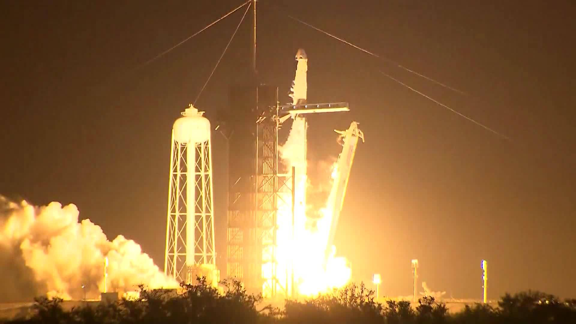 America's newest capsule for astronauts rocketed Saturday toward the International Space Station on a high-stakes test flight by SpaceX.