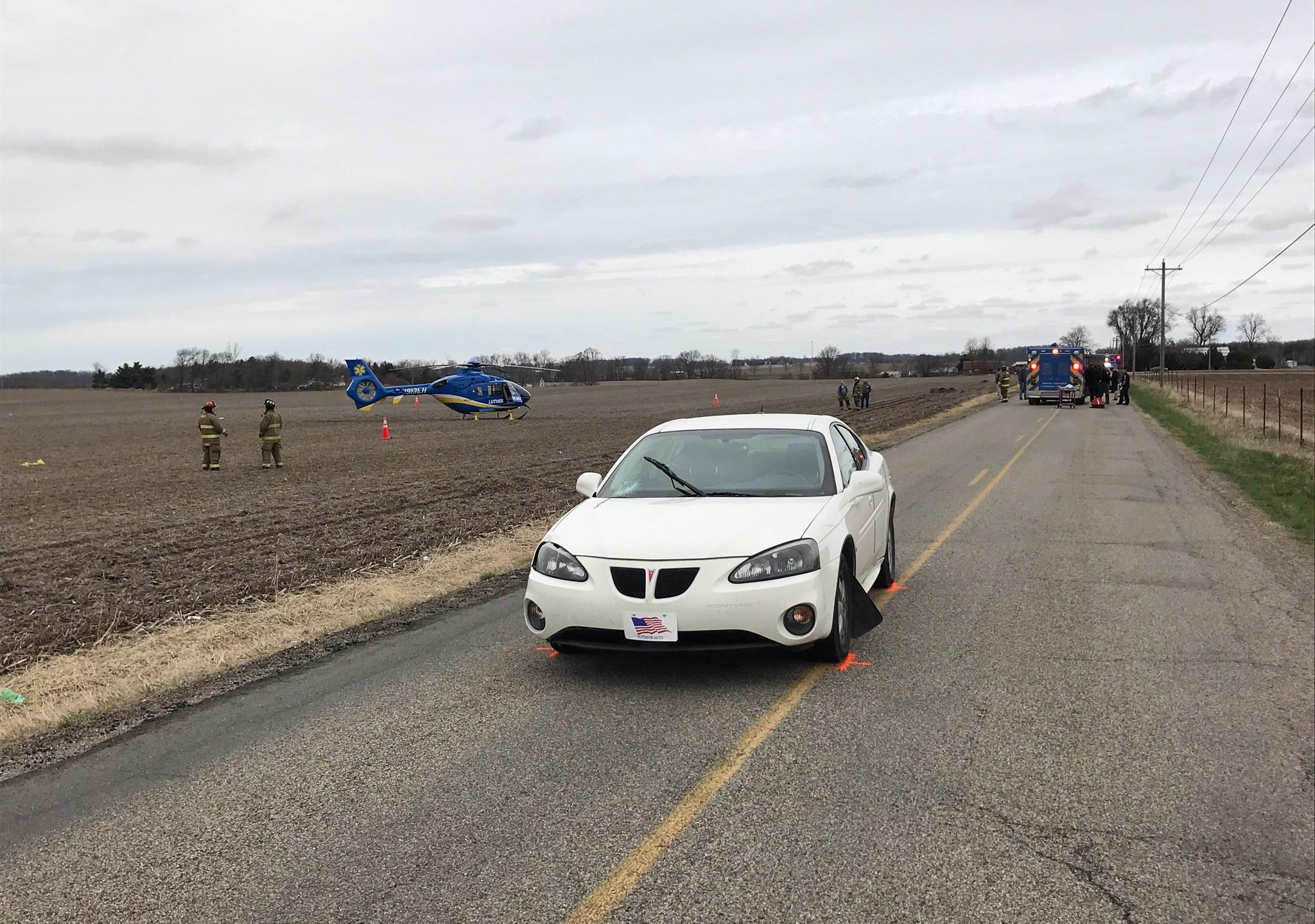 Pedestrian hit in Kosciusko County
