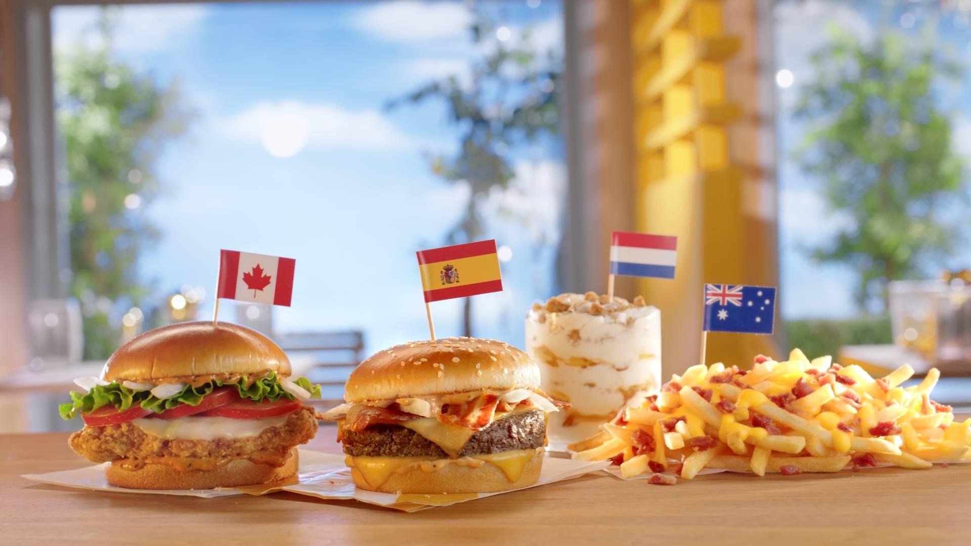 McDonald's global menu items