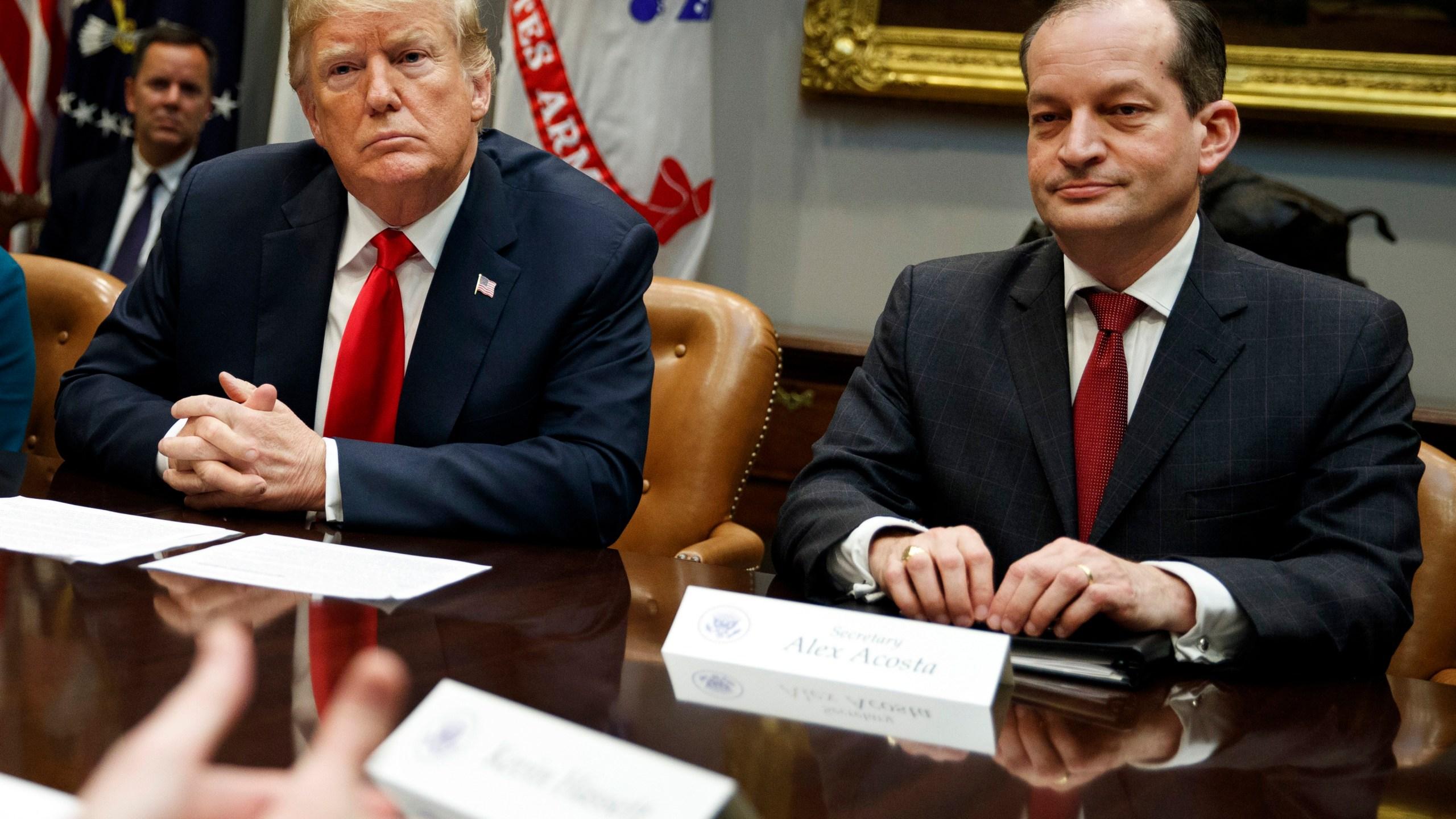 Donald Trump, Linda McMahon, Alex Acosta