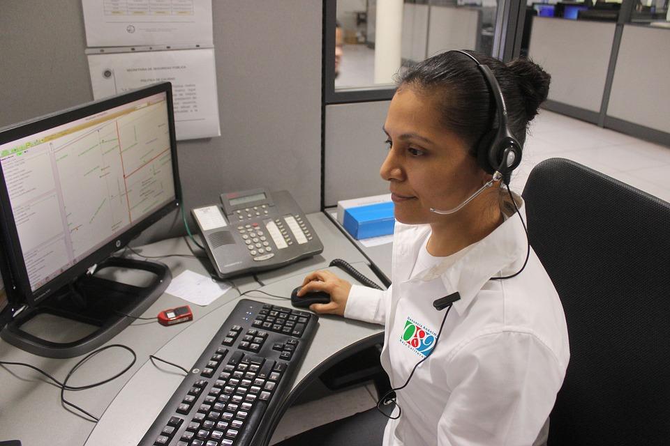 Police Phone 911 Call Emergency Woman People