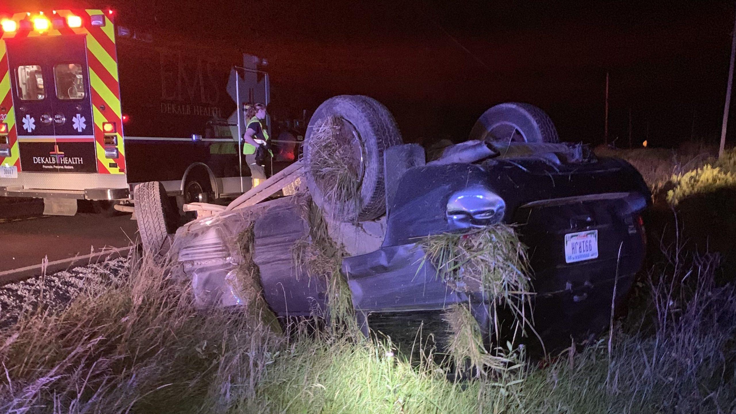 Garrett Rollover crash