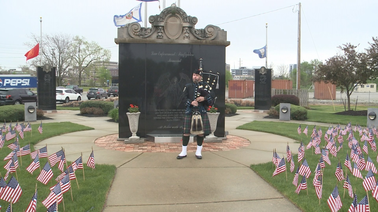 VIDEO: Fallen officers honored at memorial while social distance