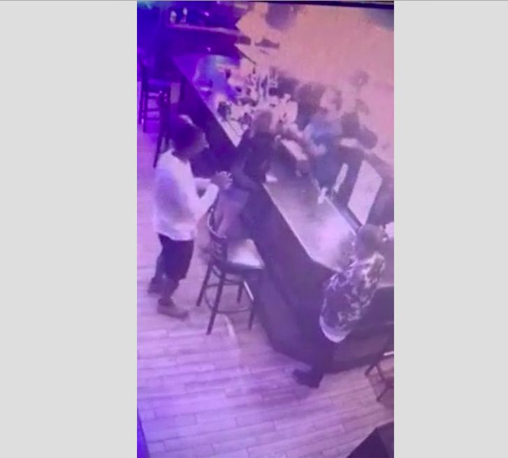 VIDEO: Woman Coughs On California Bartender After Being