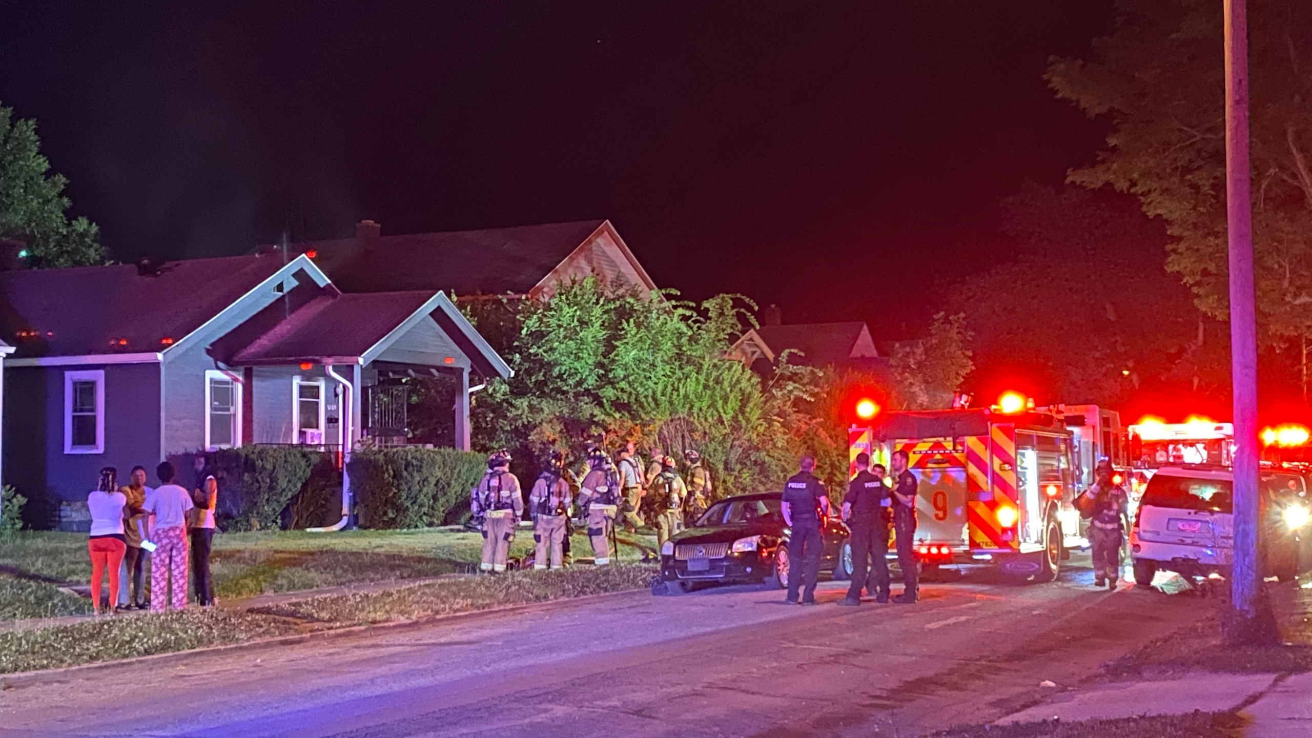 One person is hurt after a house fire early Thursday morning.