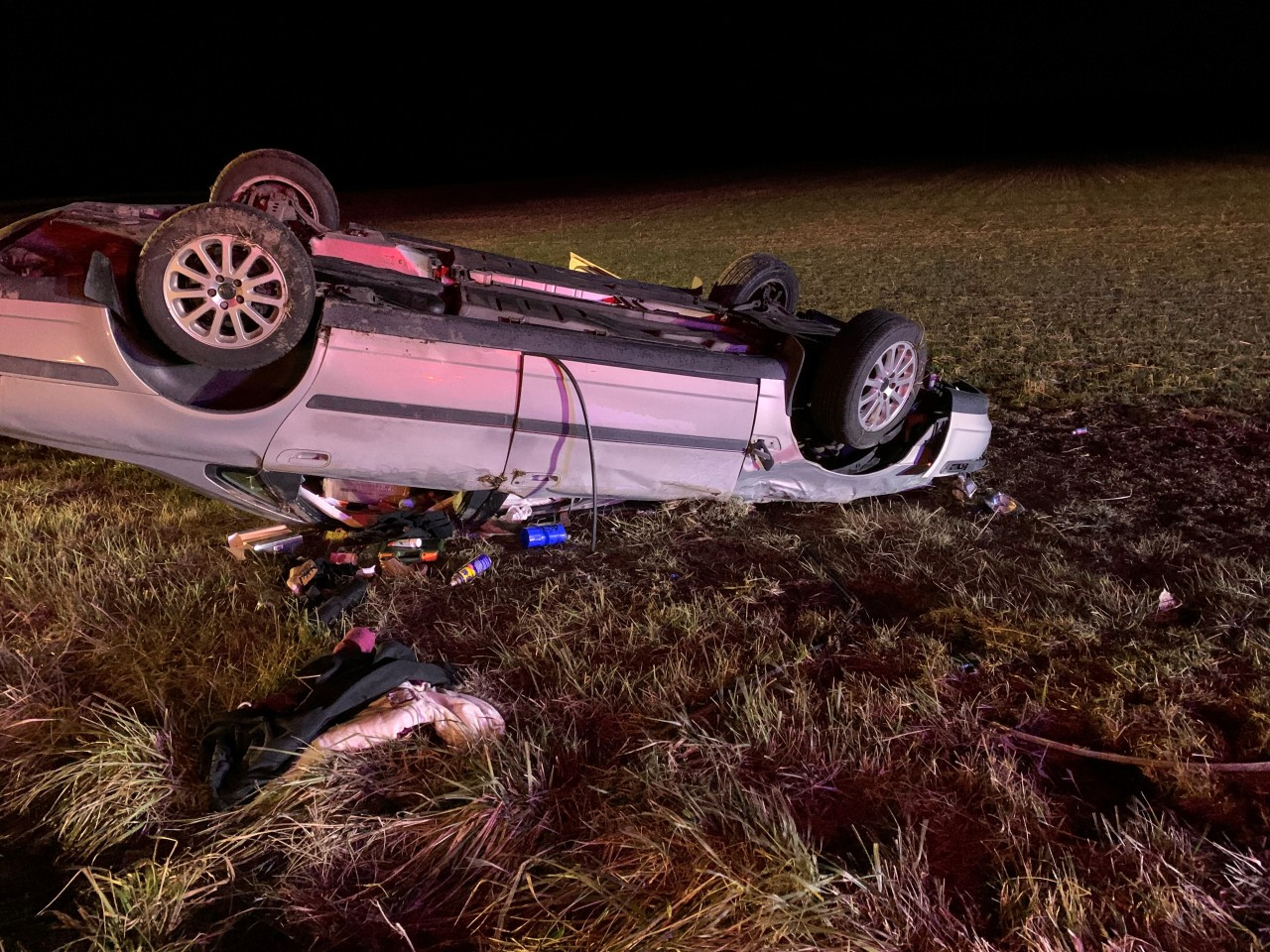 Driver suffers fractured spine after DeKalb County rollover crash