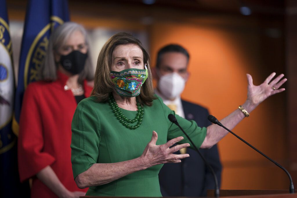 House passes .9T pandemic bill on near party-line vote