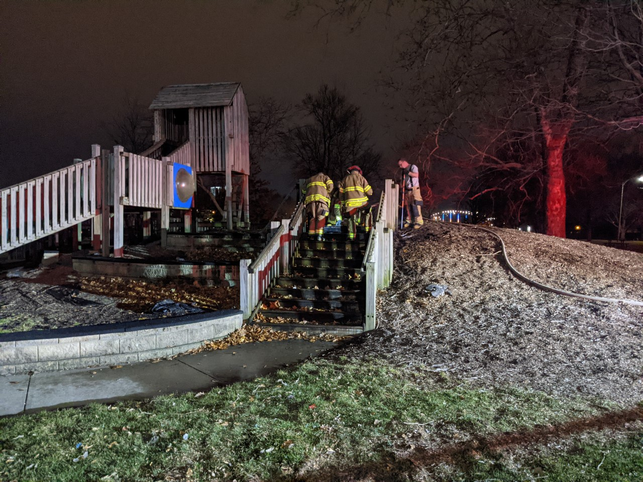 Lawton Park playground damaged after small fire