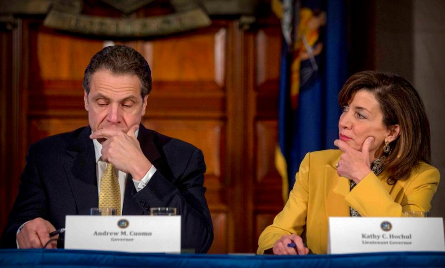 Hochul is preparing to take the reins of power after Gov. Andrew Cuomo announced Tuesday, Aug. 10, 2021, that he would resign from office amid allegations that he sexually harassed several women. (AP Photo/Seth Wenig)