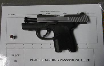 TSA intercepts gun