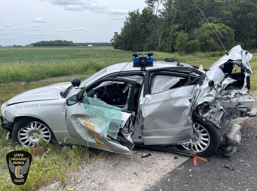 Defiance Patrol Car Crash